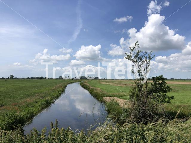 Frisian landscape in The Netherlands