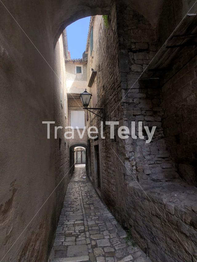 Alley in the old town of Trogir Croatia