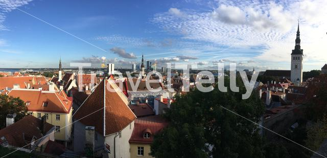 Panorama overview from the old town of Tallinn Estonia