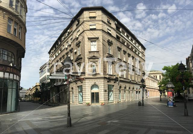 Buildings in Kneza Mihaila street downtown Belgrade Serbia