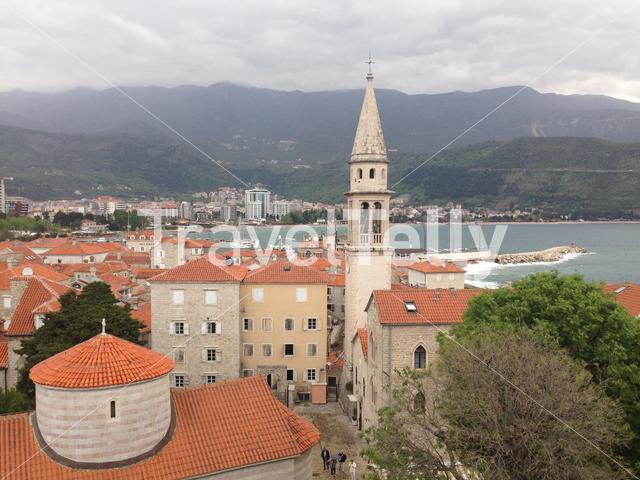 Old town of Budva with the Saint Ivan Church in Montenegro