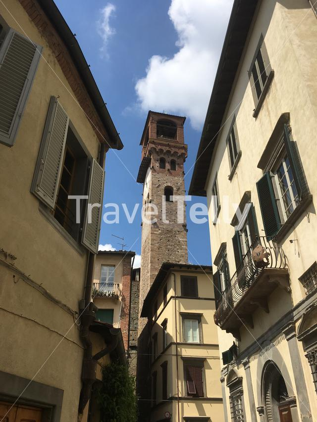 The Torre delle Ore in Lucca, Tuscany, Italy.