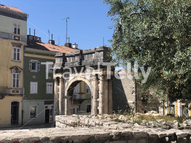 Arch of the Sergii in Pula, Croatia
