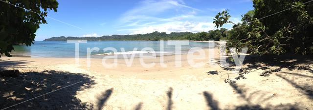 Panorama from a beach in manuel antonio national park Costa Rica