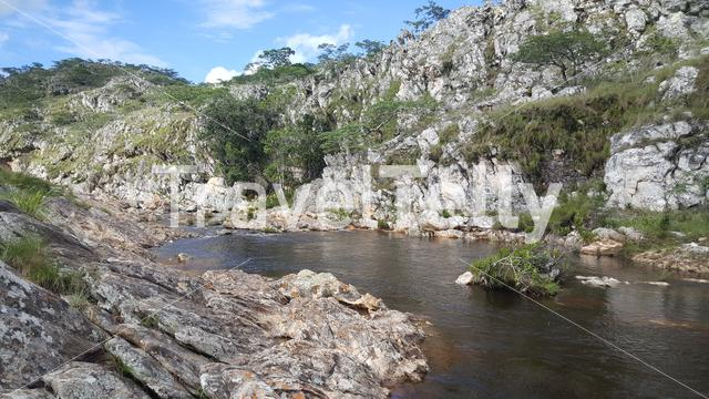 Lake scenery around Chimanimani National Park in Zimbabwe