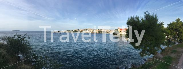 Panorama from Harbour of Neos Marmaras in Greece
