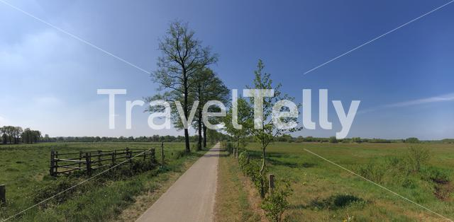 Panorama from a path  around Giethmen, The Netherlands