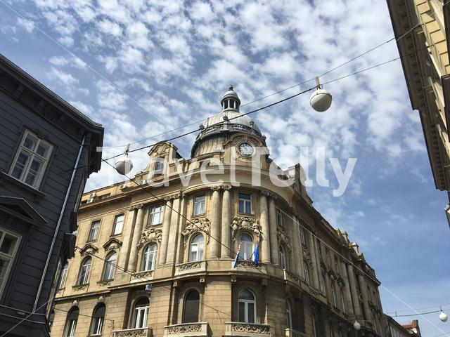 Buildings downtown Zagreb Croatia