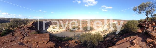Panorama from Murchison River in Kalbarri National Park