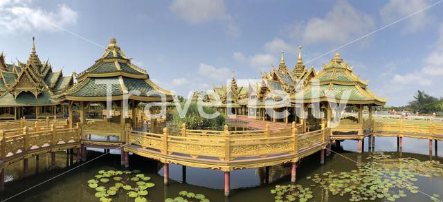 Panorama from the Pavilion of the Enlightened at the Ancient Siam, Thailand