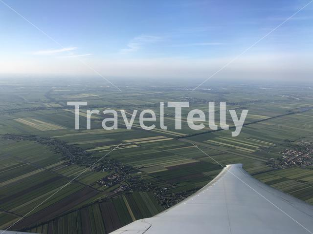 Flying above The Netherlands
