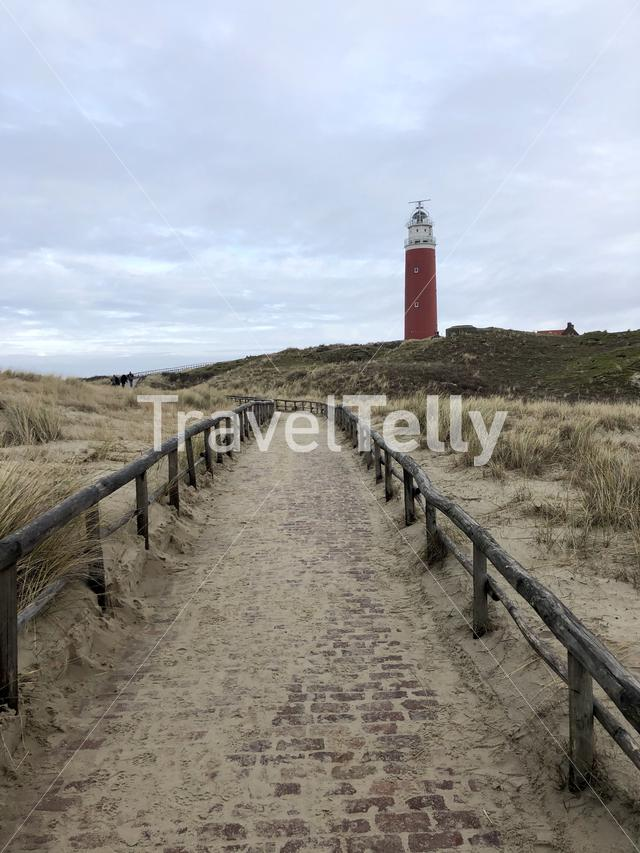The lighthouse on Texel island in The Netherlands