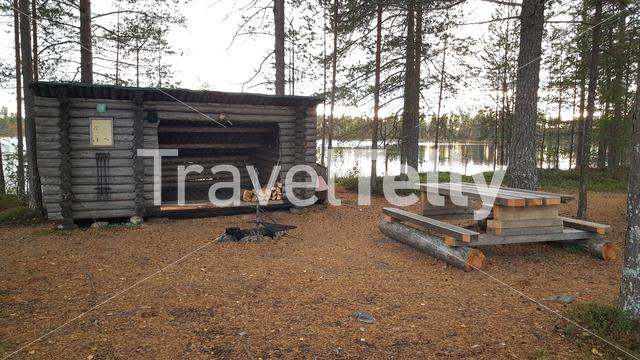 Barbecue place in Oulanka National Park Finland