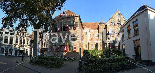 Panorama from the old town of Zwolle, The Netherlands