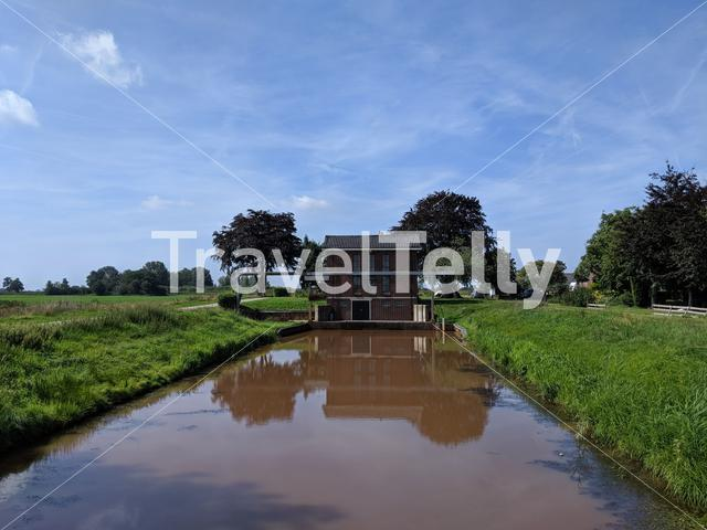 Pumping station around Muggenbeet in  Overijssel, The Netherlands