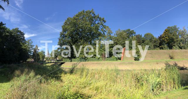 Panorama from the city wall around Groenlo, The Netherlands