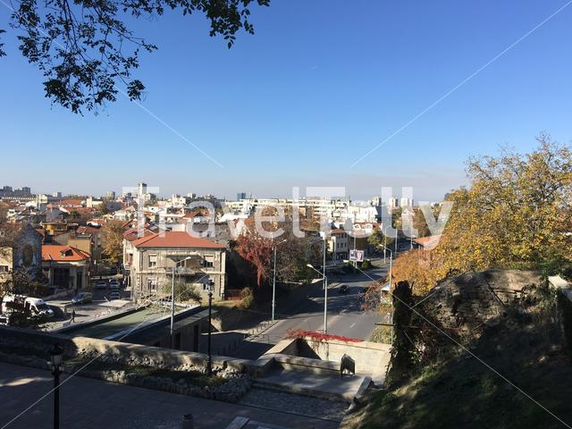View from the old town of Plovdiv Bulgaria