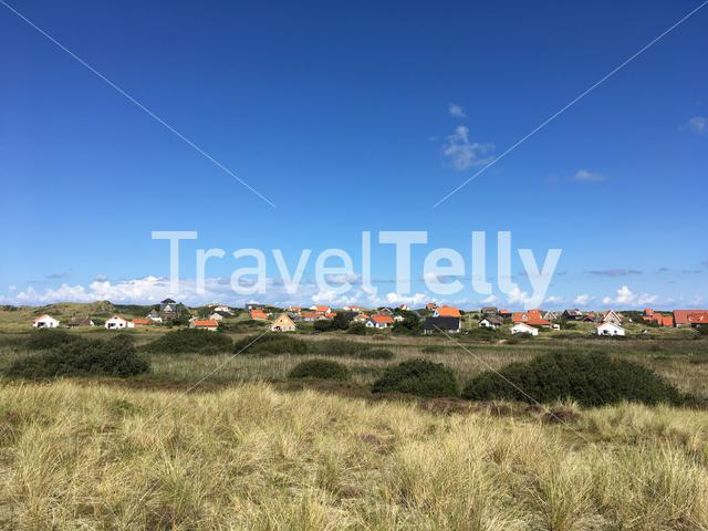 Holiday bungalows at Midsland at sea on Terschelling, Friesland The Netherlands
