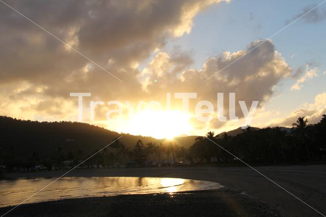 Sunset at Airlie Beach in Australia