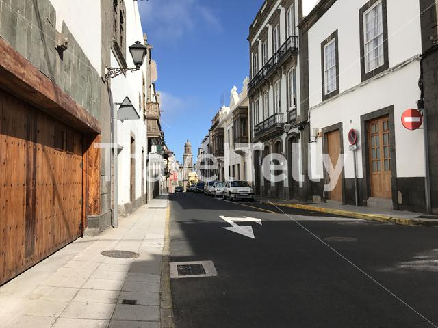 In the streets of Las Palmas Gran Canaria Canary Islands Spain