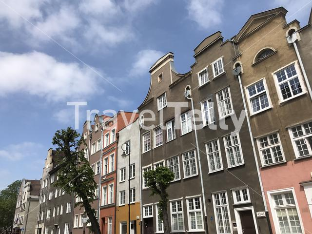 Houses in the old town of Gdansk Poland