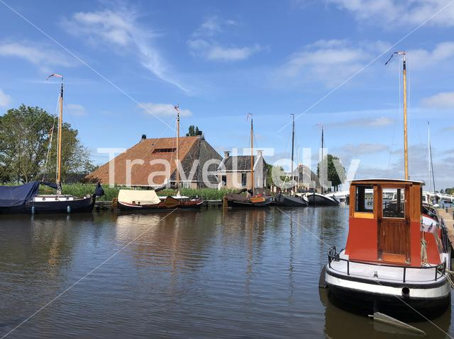 Sailboats in Gaastmeer Friesland The Netherlands