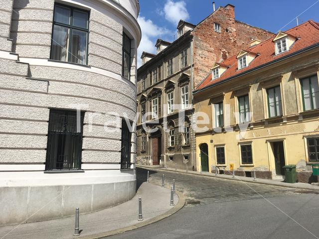Architecture in the old town of Zagreb Croatia