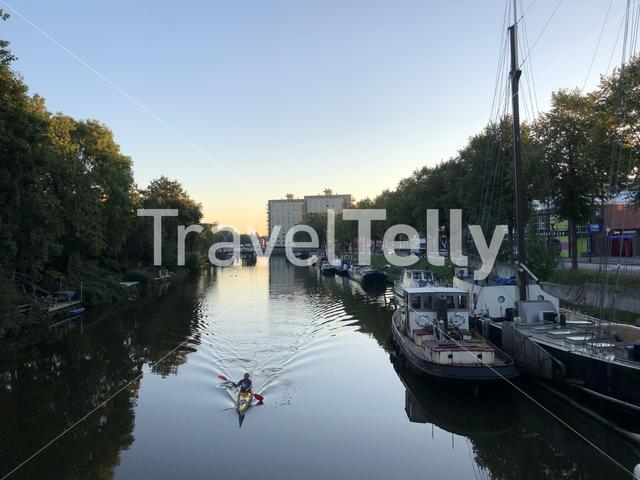 Canoeing in Groningen The Netherlands