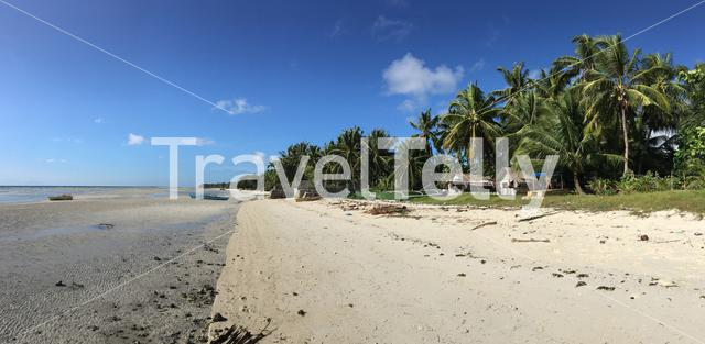 Panorama from Anda beach during low tide at Anda beach in Bohol the Philippines