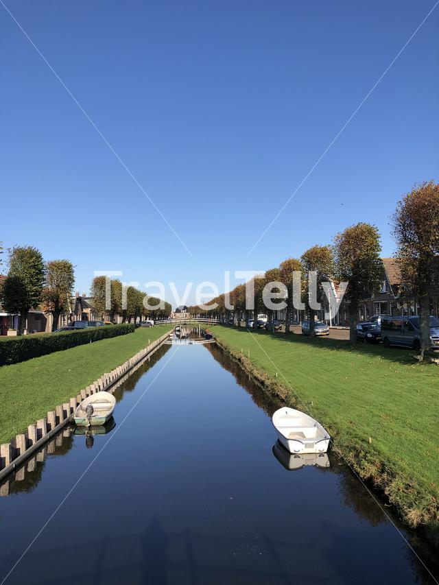 Canal in Stavoren, Friesland The Netherlands