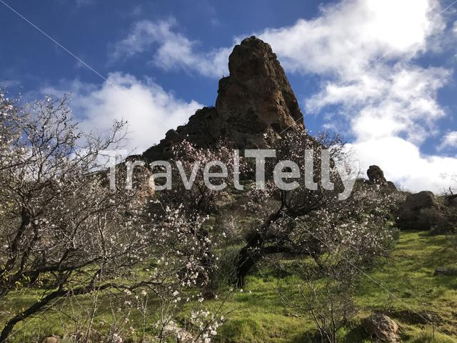 Peak from a mountain range at Riscos de Tirajana in Gran Canaria