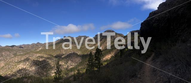 Panorama from a hiking path on Gran Canaria