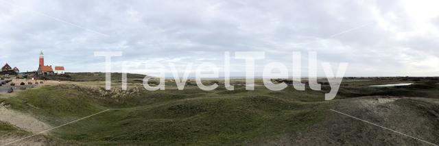 Panorama from the lighthouse and Texel island in The Netherlands