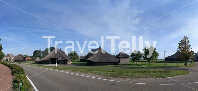 Panoramic view from the village Beerze in Overijssel, The Netherlands