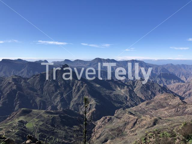 Mountain landscape scenery on Gran Canaria