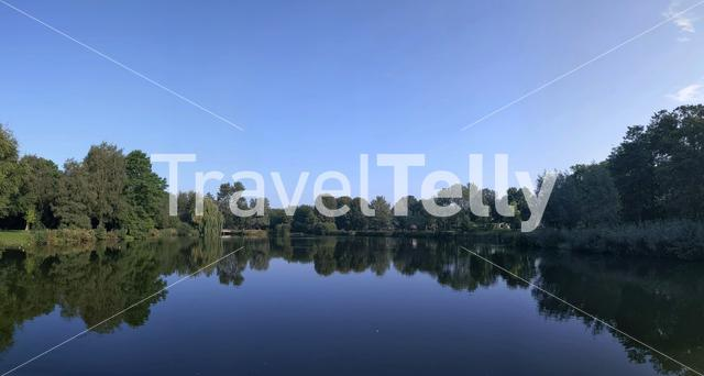 Panoramic view from a lake in Holten, The Netherlands