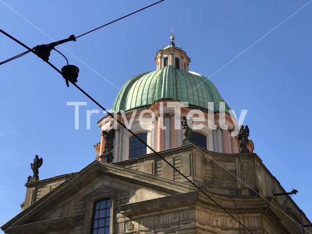 Dome from the St. Francis Of Assissi Church in Prague Czech Republic