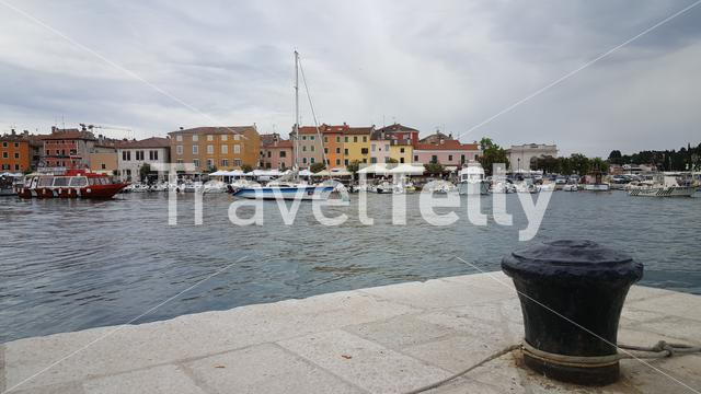 Waterfront of Rovinj town, Croatia