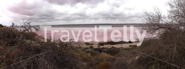 Panorama from the Pink lake in Kalbarri, Western Australia
