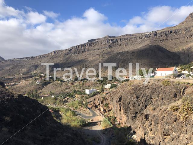 The town Ayagaures in Gran Canaria