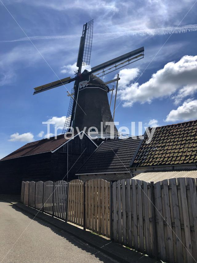 Windmill in Stiens, Friesland The Netherlands