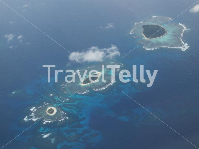 Tonga atoll from the sky
