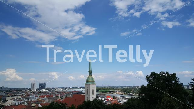 Cityscape and the St. Martin's Cathedral from Bratislava Slovakia