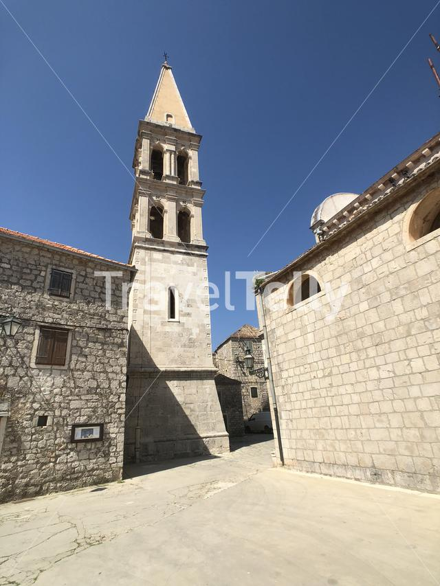 Chiesa di St. Stefano church in the old town of Stari Grad Croatia