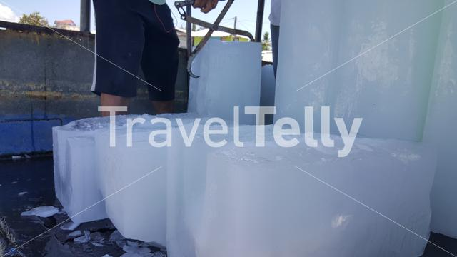 Big ice blocks at Puerto Princesa bay, Palawan