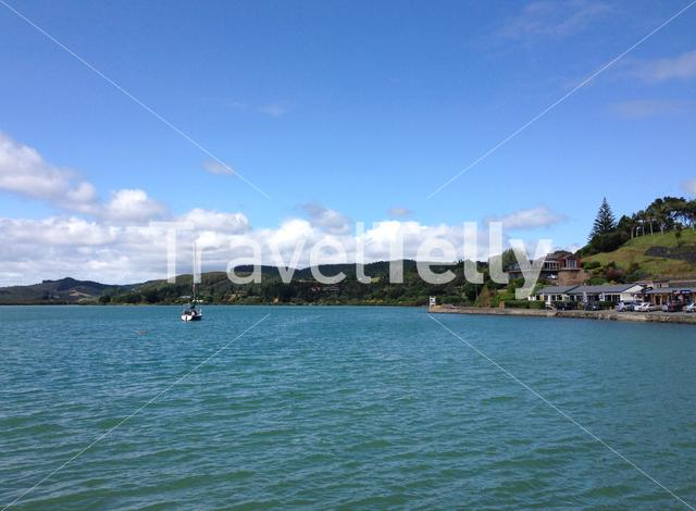 Sailboat in Mangonui Harbour New Zealand
