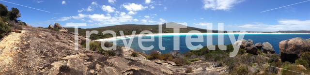 Lucky Bay beach panorama at Cape Le Grand National Park Australia