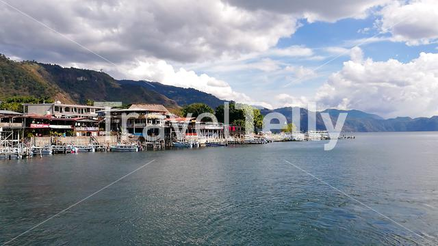 View from the Ferry, Atitlán Lake