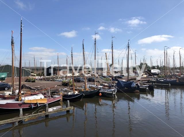 Sailboats in Heeg, Friesland, The Netherlands
