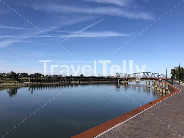 Bridge over the IJssel river in Zutphen, Gelderland The Netherlands
